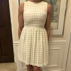 Vince Camuto White Dress with detail pattern